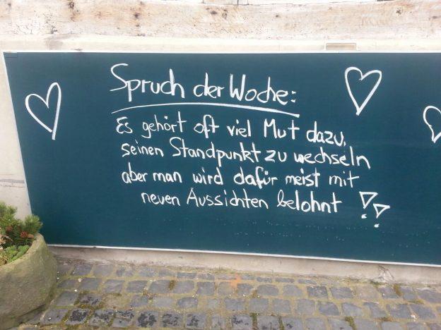 Eheberatung Paartherapie Systematische Beratung Doris Lenhard Tafel Spruch der Woche